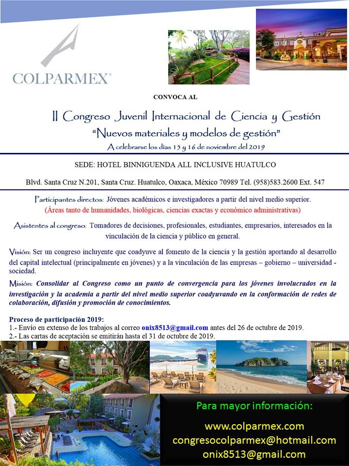 Cartel 2019 Convocatoria Congreso Ciencia